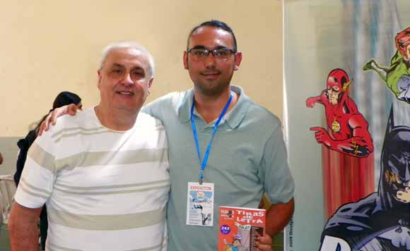 Mazinho e Rodrigodraw na Comicmania 2011