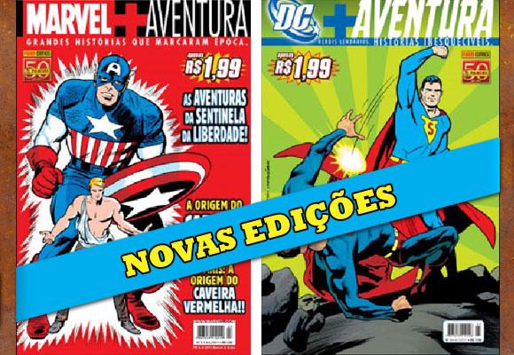 Marvel+Aventura e DC+Aventura