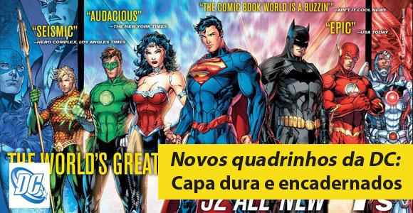Novos quadrinhos da DC Comics encadernados e capa dura