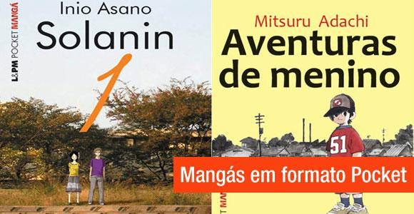 Mangás em formato pocket serão lançados no Brasil pela editora L&PM