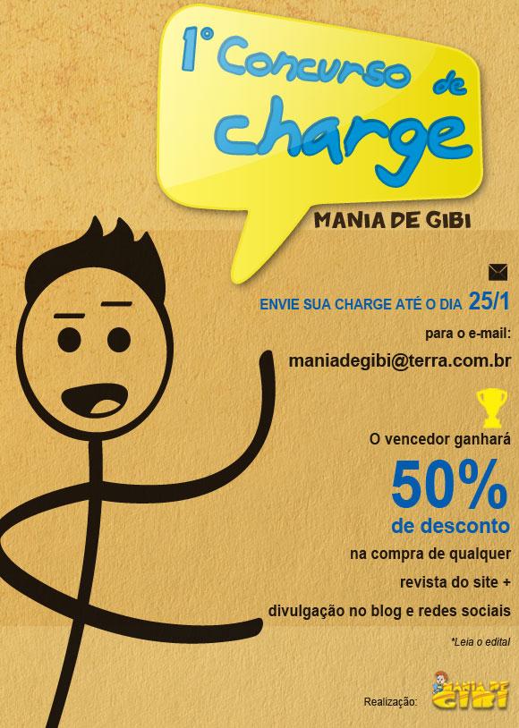 1º Concurso de Charges Mania de Gibi