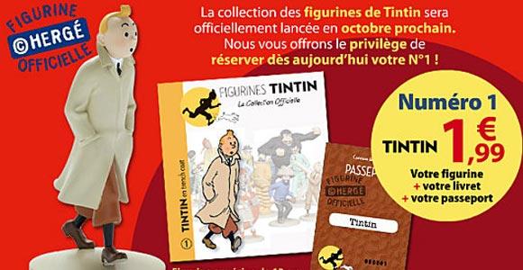 Le Soir lança coleção oficial de figuras de Tintim