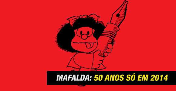 Quino afirma que Mafalda faz 50 anos apenas em 2014