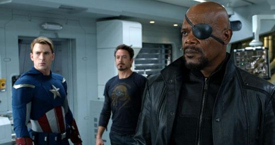 Capitão América, Tony Stark e Nick Fury