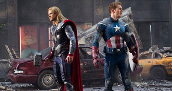 Thor e Capitão América
