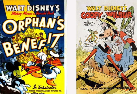 "Posters de ""Orphan's Benefit"" e ""Goofy and Wilbur"""