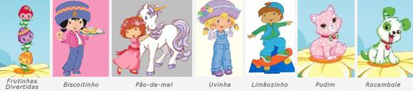 Novos personagens Moranguinho