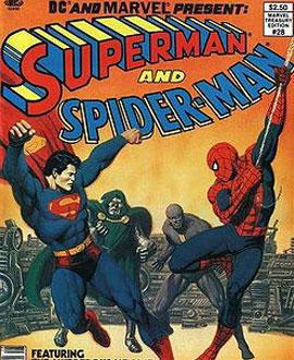 Super Homem e Homem Aranha - Capa