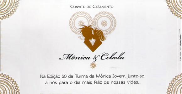 Cebola e Mônica vão se casar em Turma da Mônica Jovem # 50
