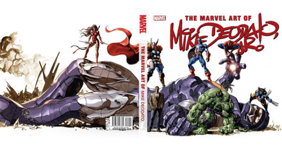 "Capa de ""The Marvel Art of Mike Deodato Jr."""