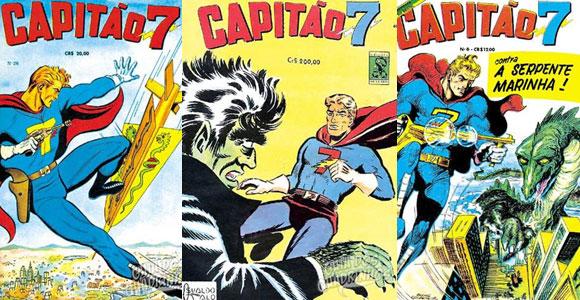 Capas de algumas revistas do Capitão 7