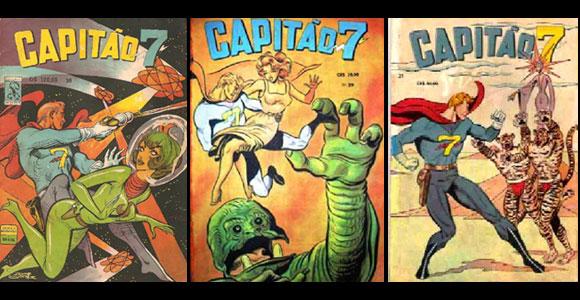 Mais capas de revistas do Capitão 7