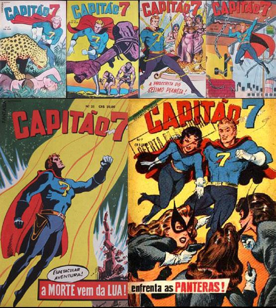 Capitão 7 - Capas de revistas