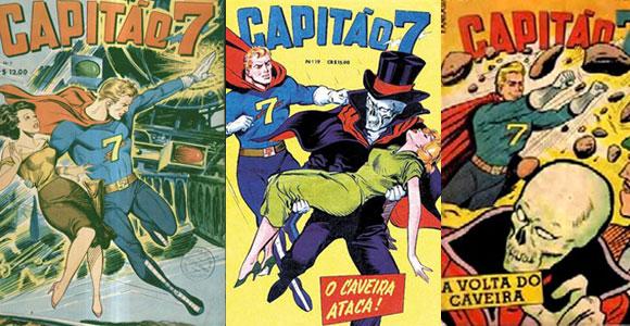 Capas de revistas em quadrinhos do Capitão 7