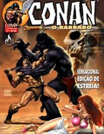 "Conan foi publicado editora Mythos em ""Conan, o Bárbaro"