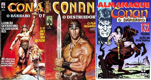 Revistas de Conan da editora Abril
