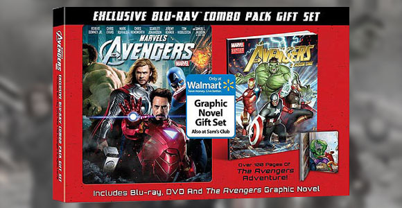 Kit com DVD/Bluray e Graphic Novel de Os Vingadores