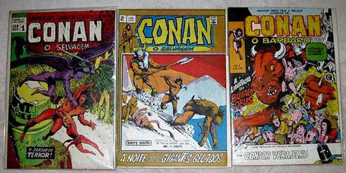 Conan, O Bárbaro/Selvagem 1 ao 3 (Editora Roval 1973).