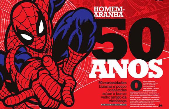 Revista Mundo dos Super-Heróis destaca Homem Aranha