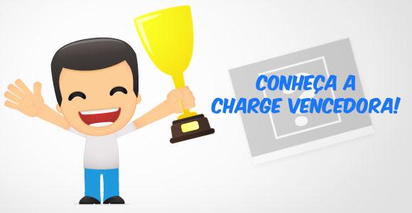 Charge vencedora do segundo concurso de charges do Mania de Gibi