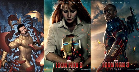 Tecnologia Extremis na HQ de Homem de Ferro - Gwyneth Paltrow (Peppter Potts)  - Don Cheadle (Iron Patriot)