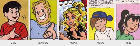 personagens da Tina