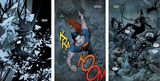 Páginas internas da revista Batman/Superman, em agosto de 2013 pela DC Comics