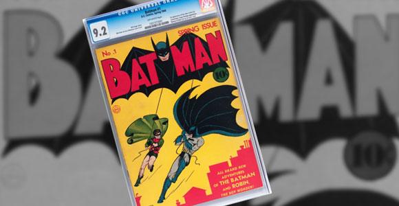 Edição de Batman # 1 foi leiloada por mais de 500 mil dólares