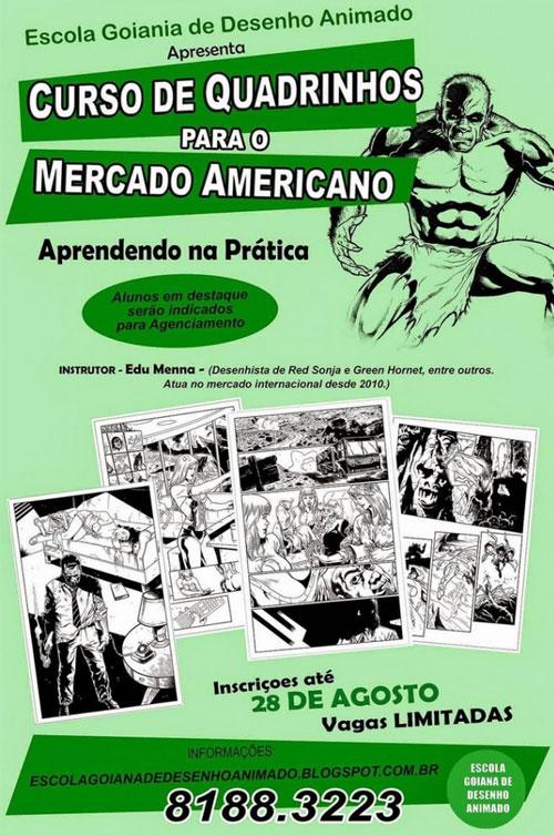Curso de quadrinhos para o mercado norte-americano em Goiânia