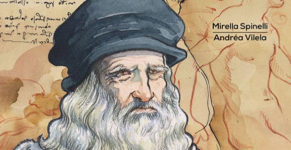Nova coleção de quadrinhos da Nemo começa retratando Leonardo da Vinci