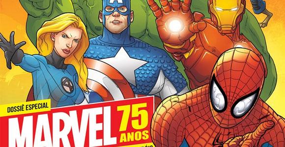 Os 75 anos da Marvel em destaque na revista Mundo dos Super-Heróis