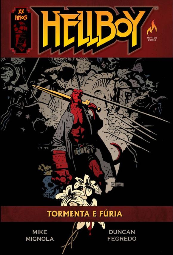 Capa Hellboy – Tormenta e Fúria: novidade da Mythos para 2015