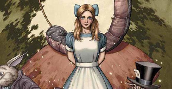 Alice no País das Maravilhas em capa dura
