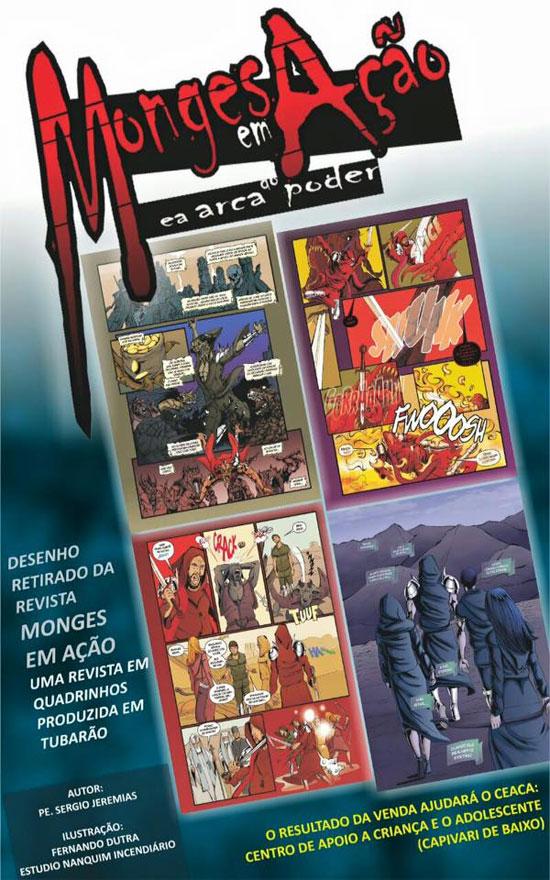 Lançamento-da-revista-Monges-em-Ação-em-Arca-do-Poder,-em-Santa-Catarina_capa