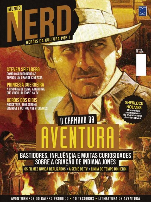 Indiana Jones em destaque na revista Mundo Nerd – Heróis da Cultura Pop