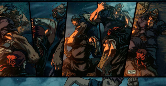 Street Fighter em HQ digital animada