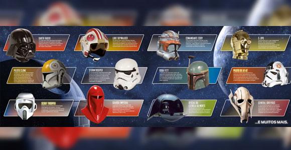 Planeta DeAgostini lança coleção de capacetes de Star Wars